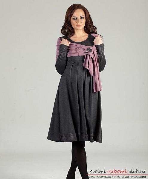 Подготовка к шитью: платье для беременных своими руками и уроки, фотографии моделей.. Фото №5
