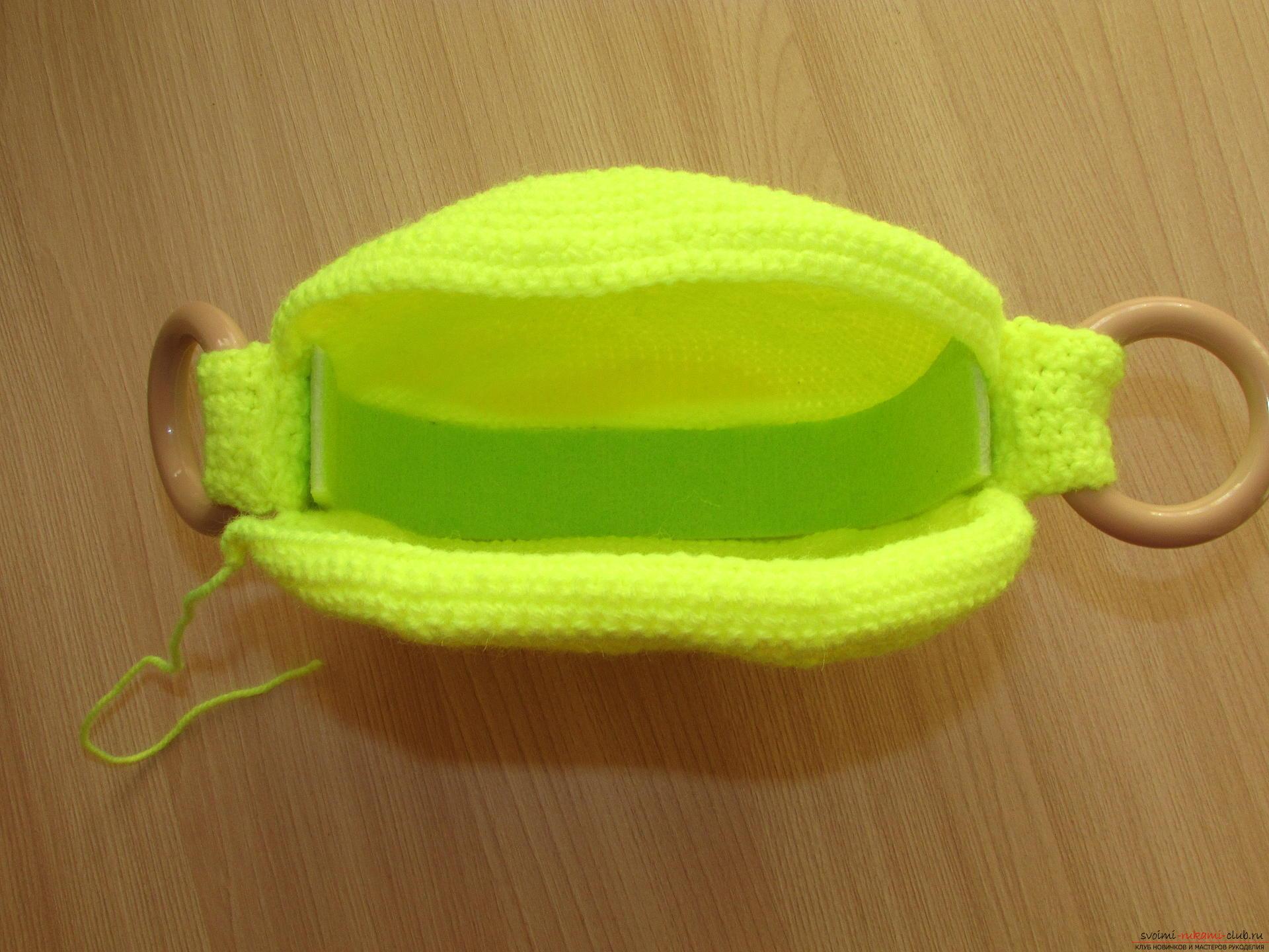 простая схема сумочки крючком для девочки