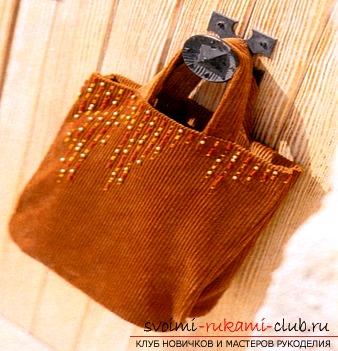 Учимся создавать интересные сумки из ткани своими руками