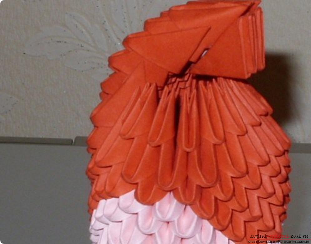 Попугай в технике модульное оригами. Фото №72