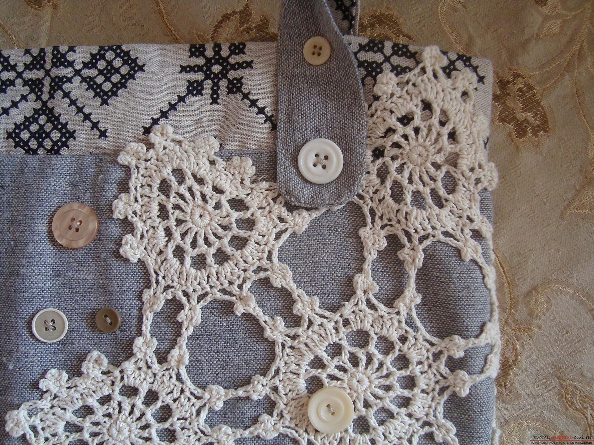 Урок, как сделать оригинальную летнюю сумку своими руками, украшенную вязанным узором