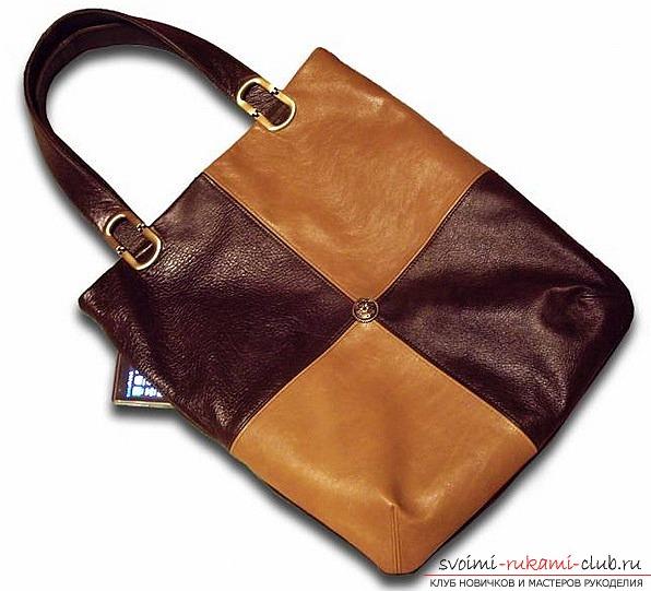 Как сделать качественную выкройку сумок из кожи своими руками. Фото №1