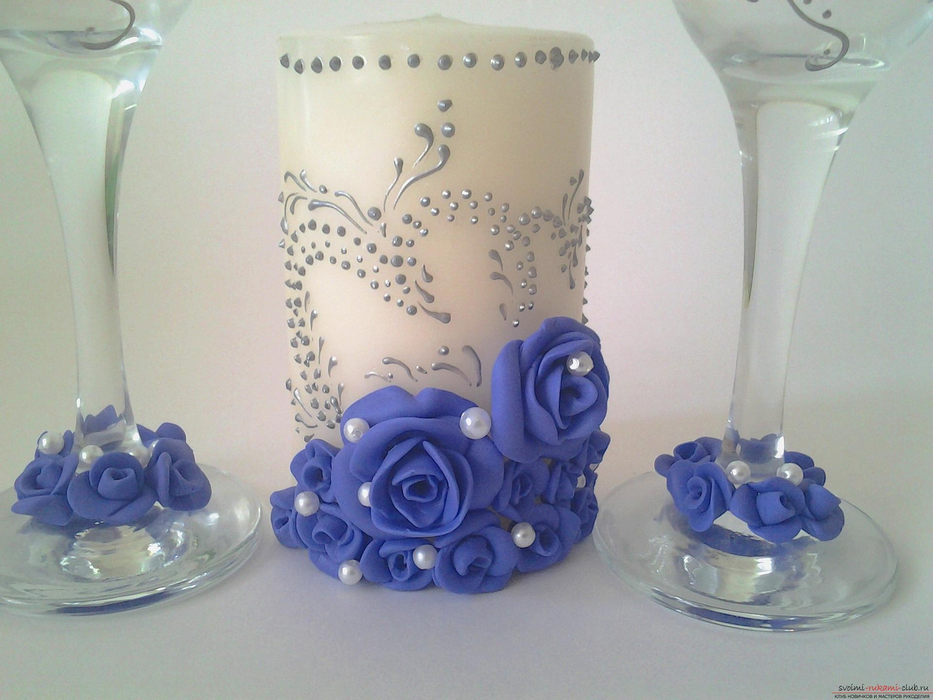 Декорируем бокалы своими руками 52