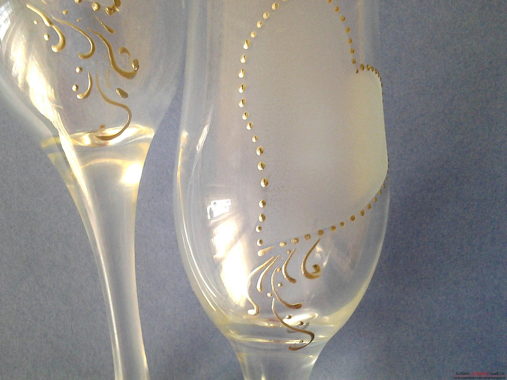 Трафареты для свадебных бокалов 189