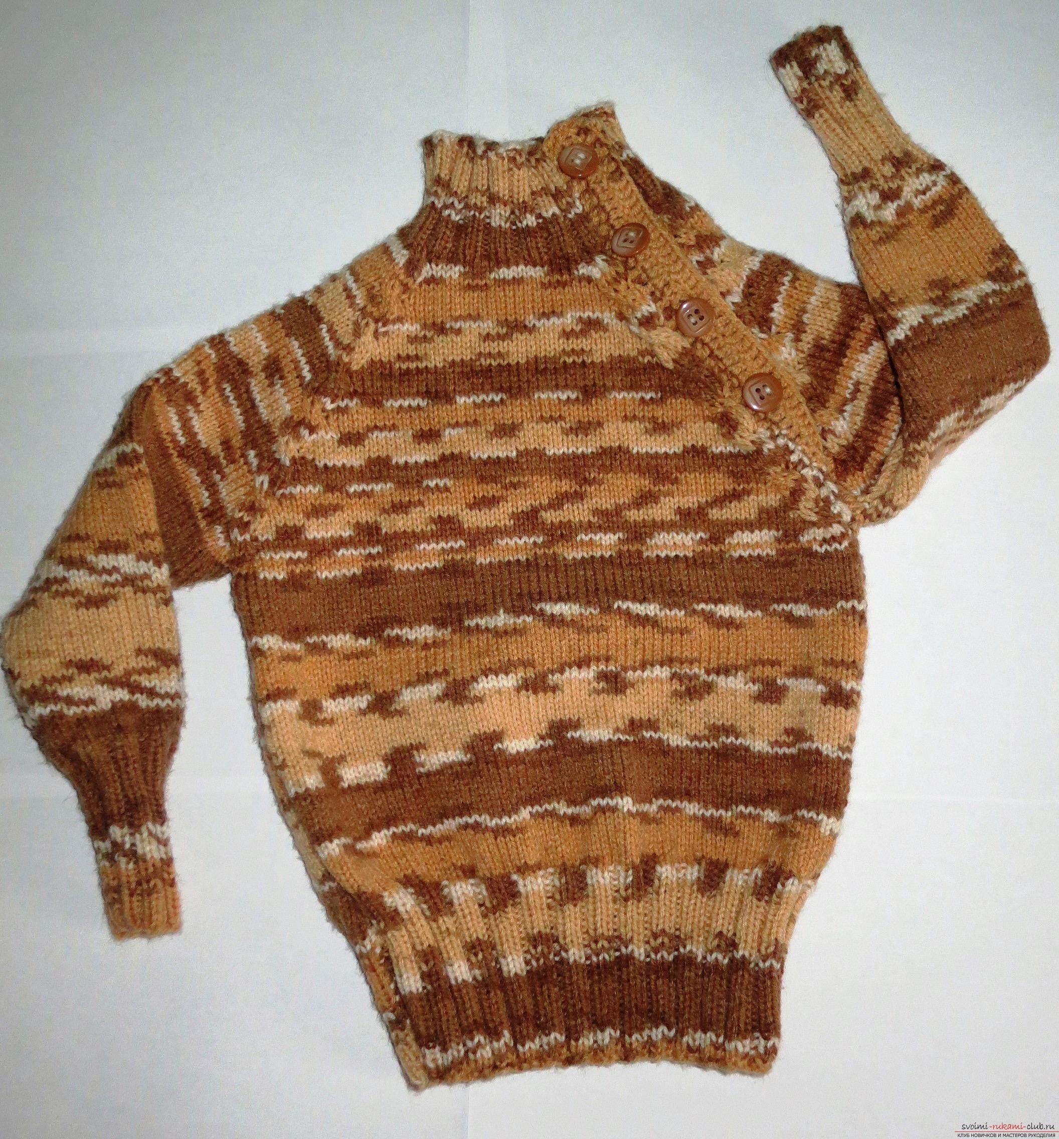 свитер-реглан для ребенка. Фото №9