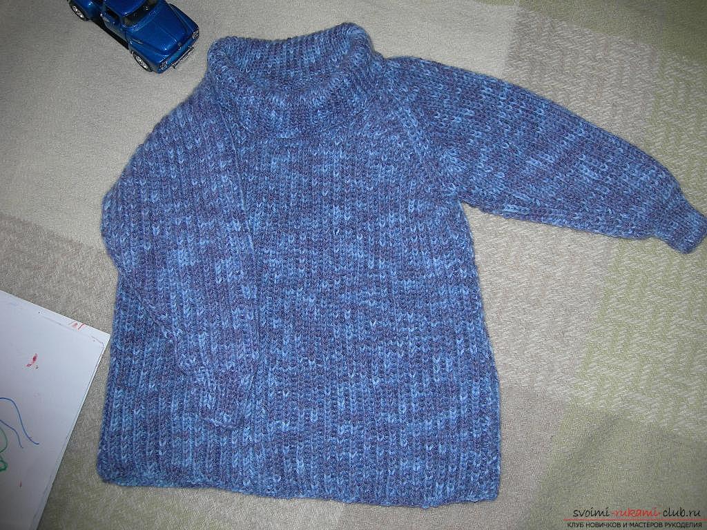свитер-реглан для ребенка. Фото №7