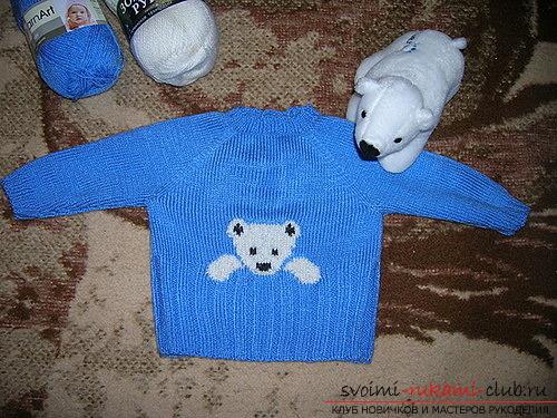 свитер-реглан для ребенка. Фото №8