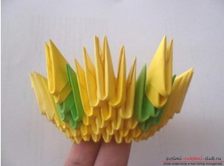 Вазы из бумаги оригами своими руками