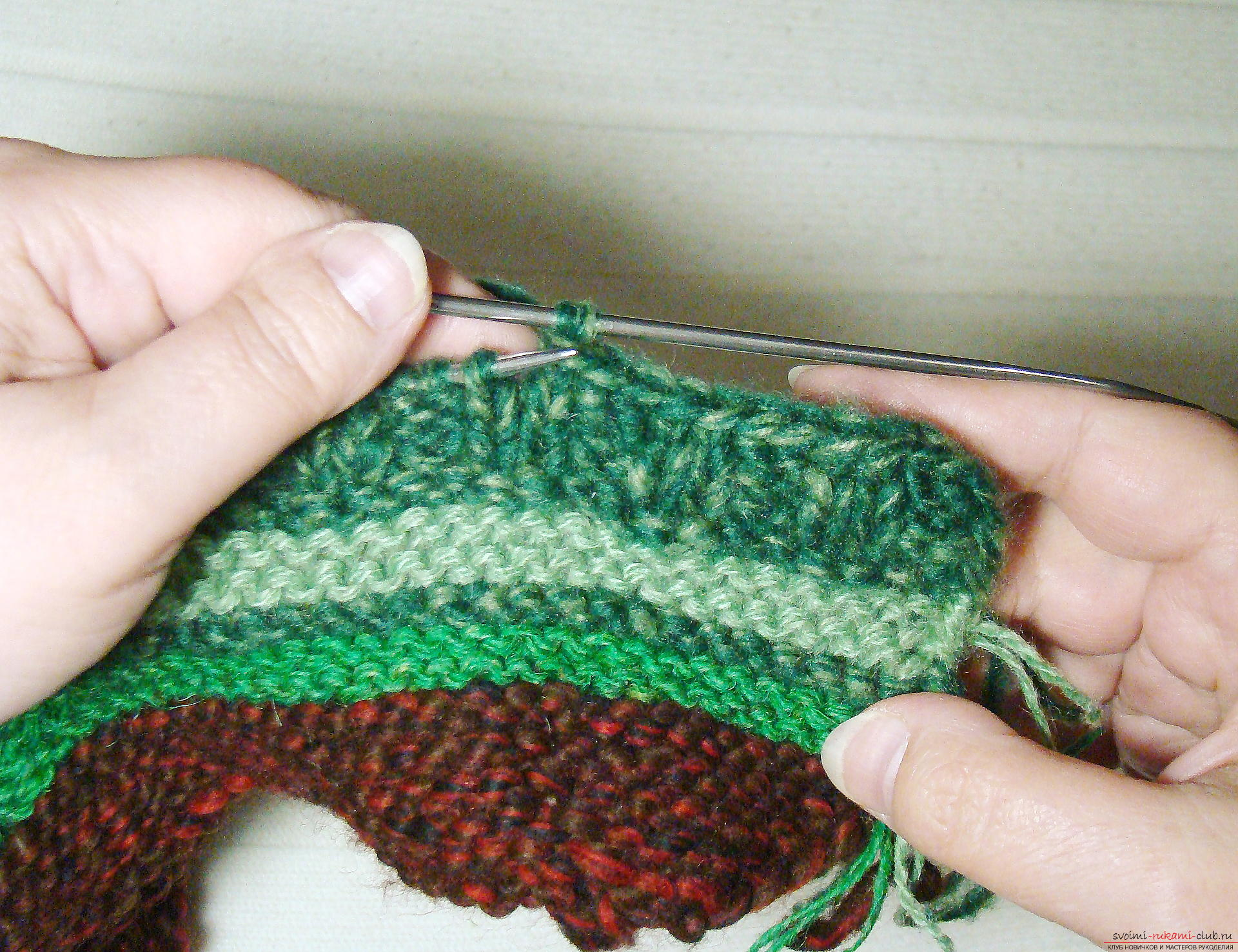 Видеоуроки вязание тапочек спицами 70