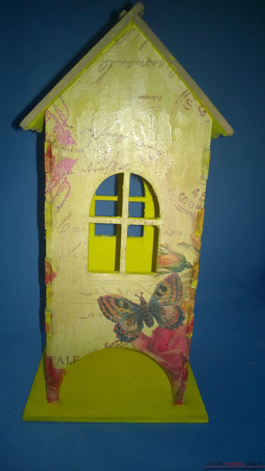 Мастер-класс научит как декорировать оригинальный чайный домик, используя декупаж. Фото №1
