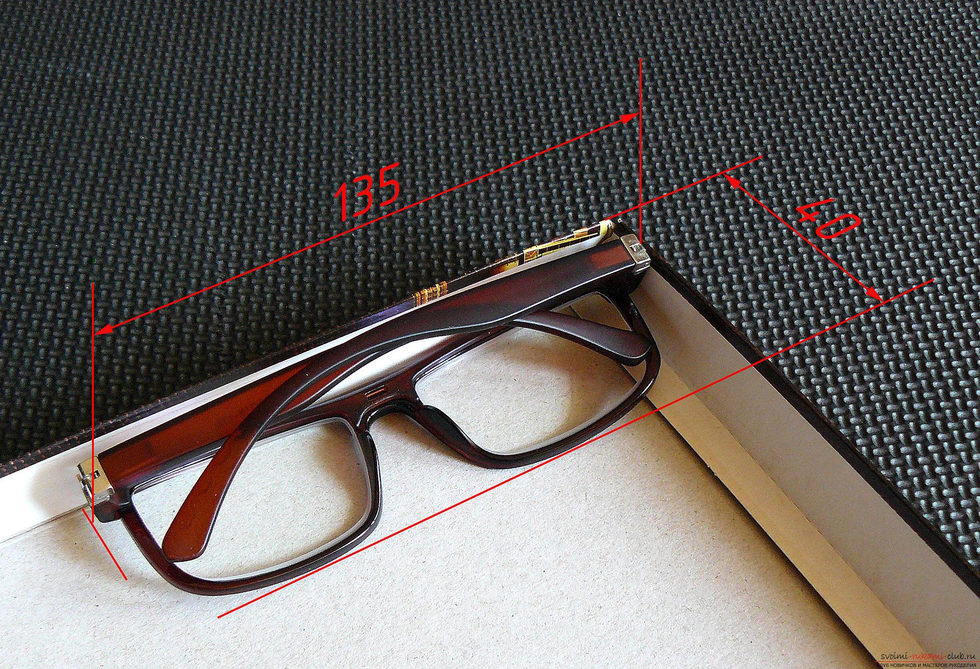 Этот подробный мастер-класс с фото и описанием научит как сделать своими руками кожаный чехол для очков.. Фото №2