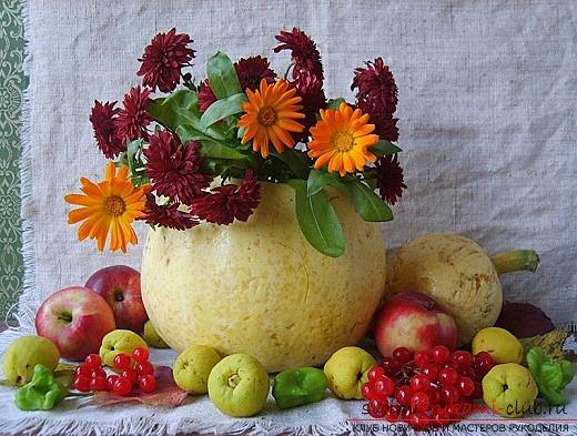 Осенние композиции из овощей и цветов своими руками фото 428