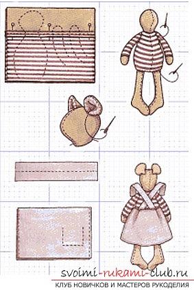 Создаём мышку-тильду собственными руками