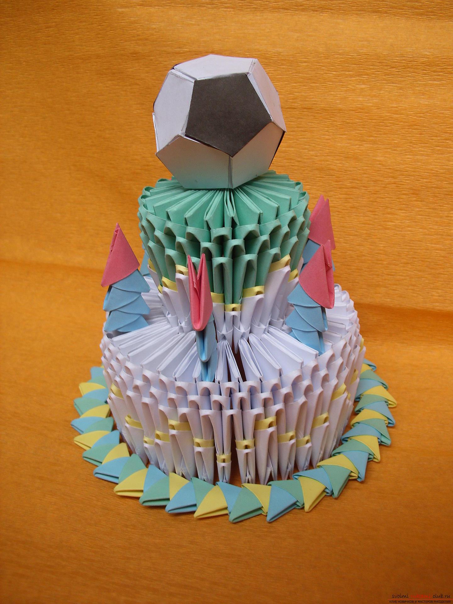 Оригами дед мороз схема сборки пошаговая инструкция