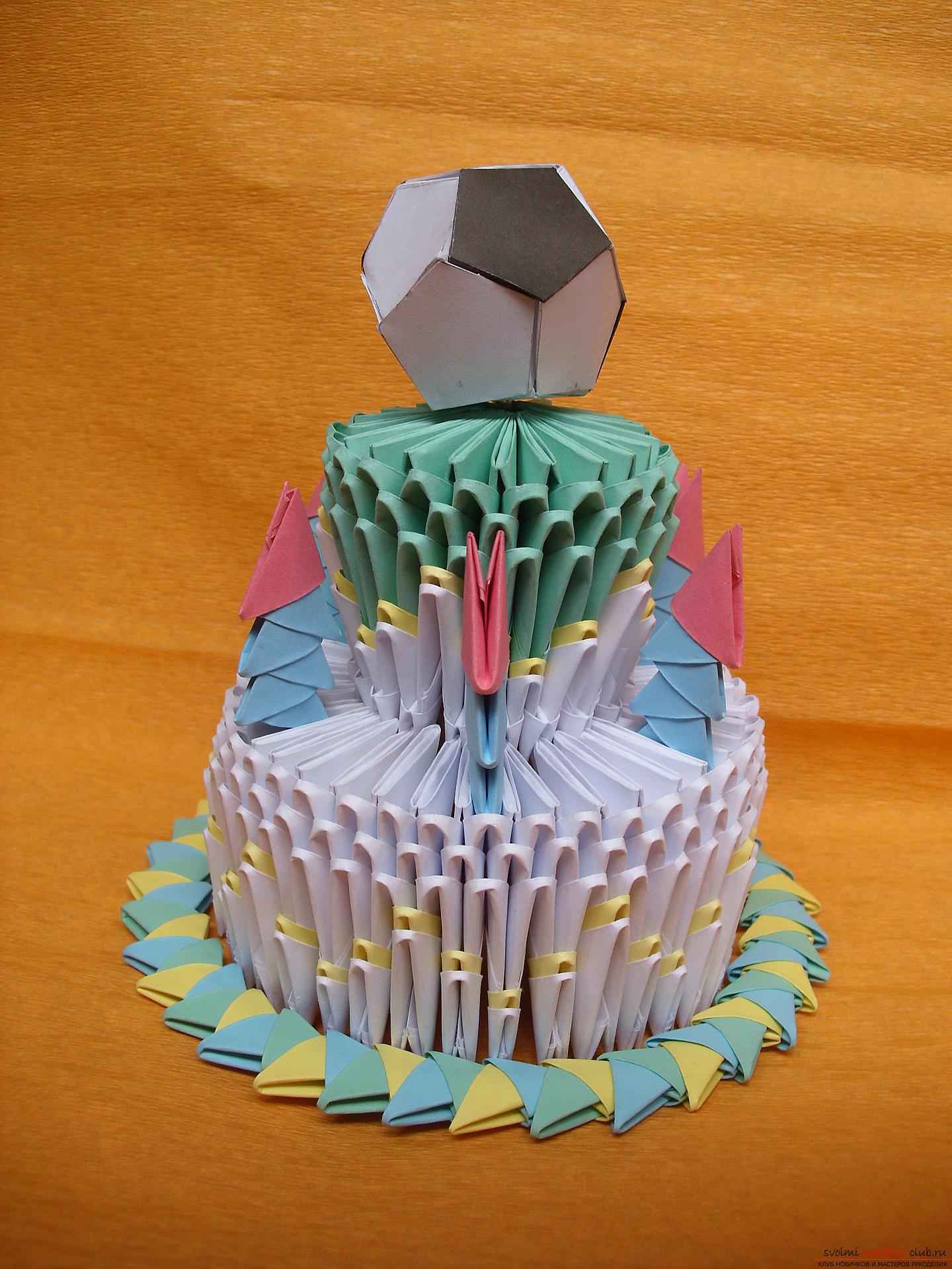 Как из оригами сделать торт