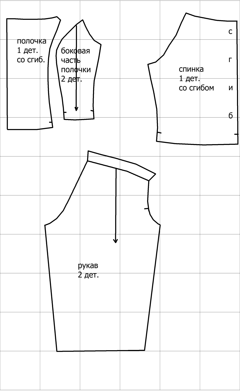 Кофта из трикотажа своими руками без выкройки