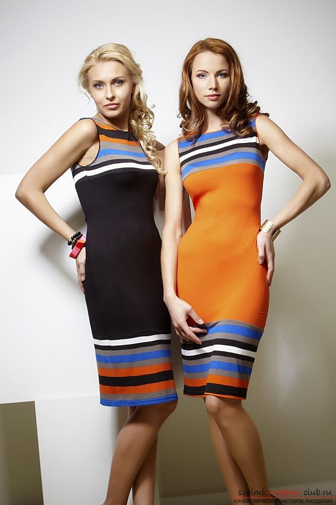Как сшить трикотажное платье по фигуре