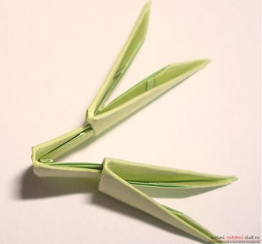 оригами из модулей схема елка