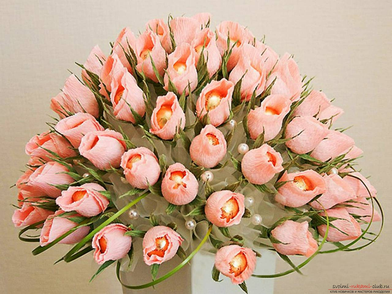 Букеты цветов своими руками мастер класс