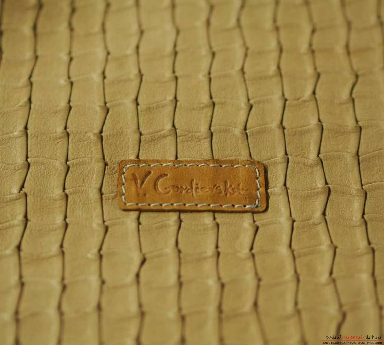 кожаный клатч для женщин своими руками. Фото №3