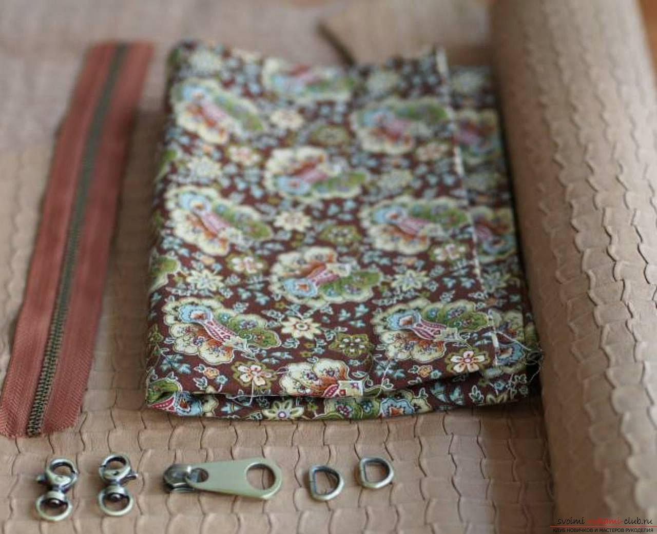 кожаный клатч для женщин своими руками. Фото №4