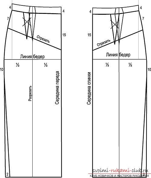 Джинсовые юбки карандаши выкройки