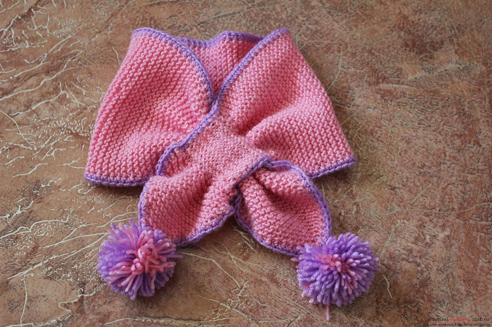 детский шарф без узла. Фото №2
