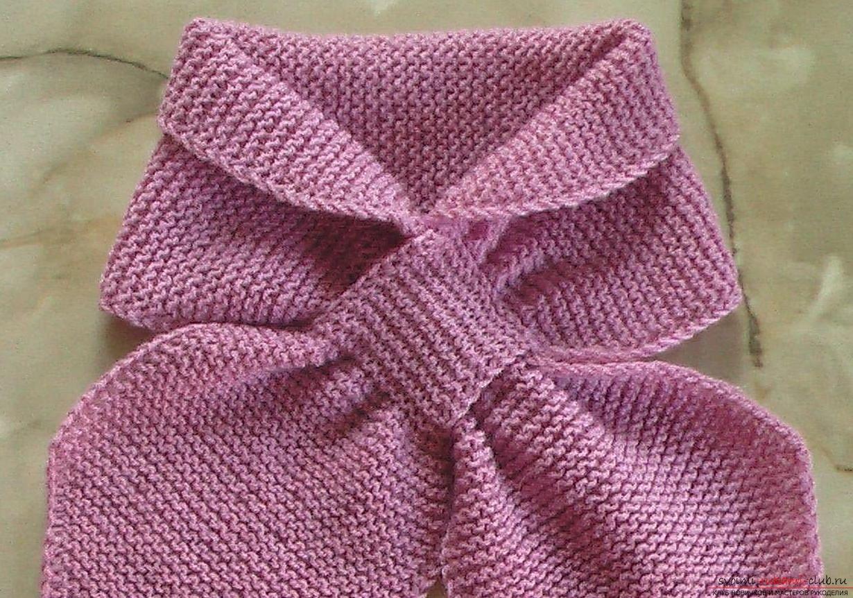 детский шарф без узла. Фото №4