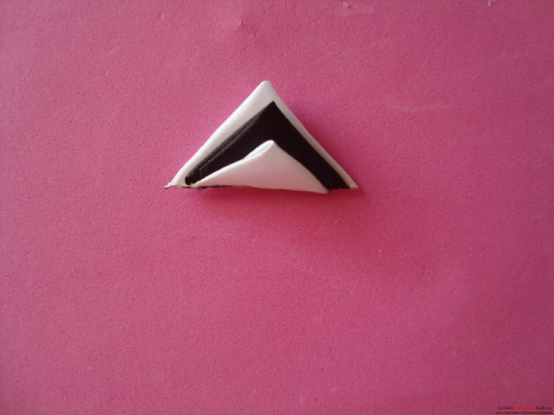 оригами схема сборки тройного лебедя