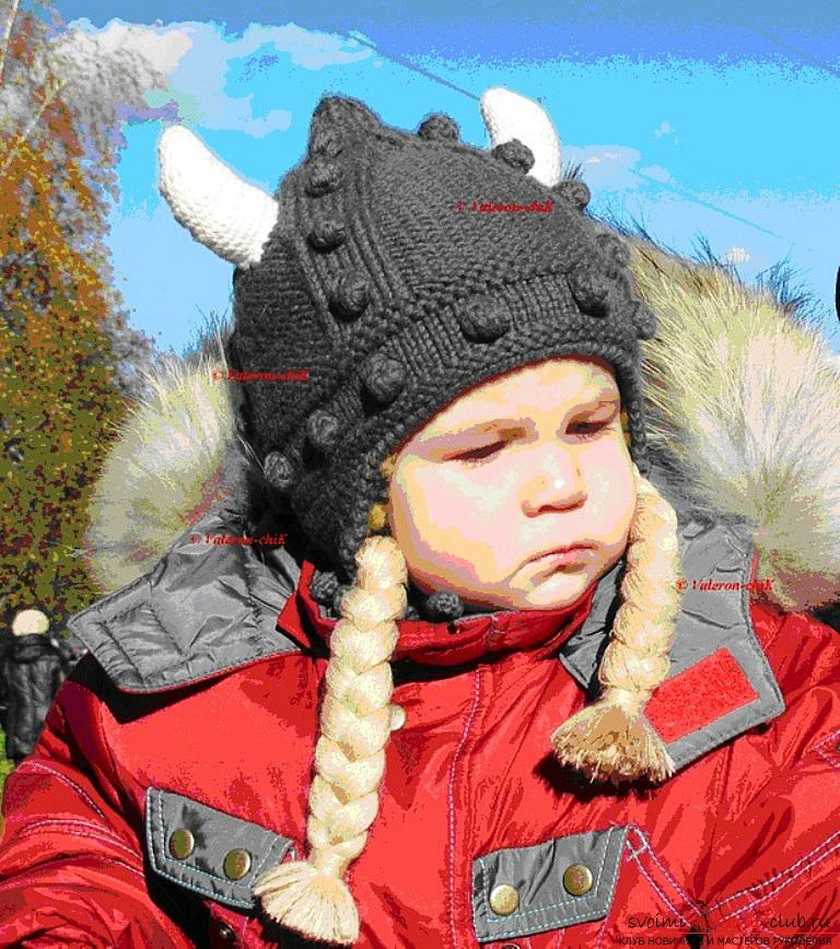 Зимняя шерстяная шапочка для малыша. Фото №5