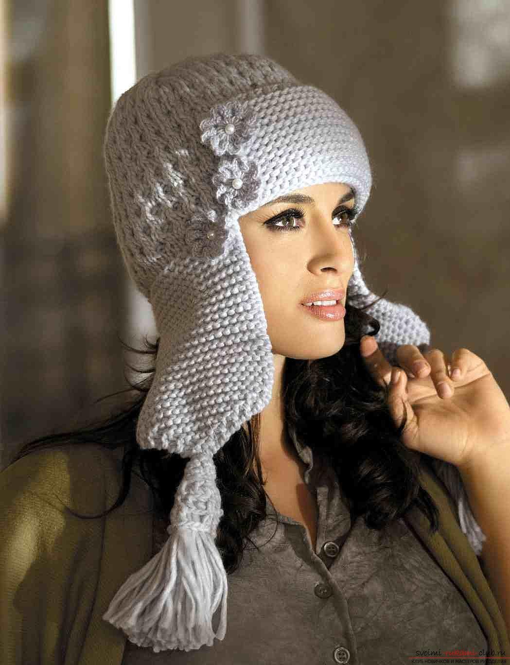вязанные креативные шапки для женщин схема