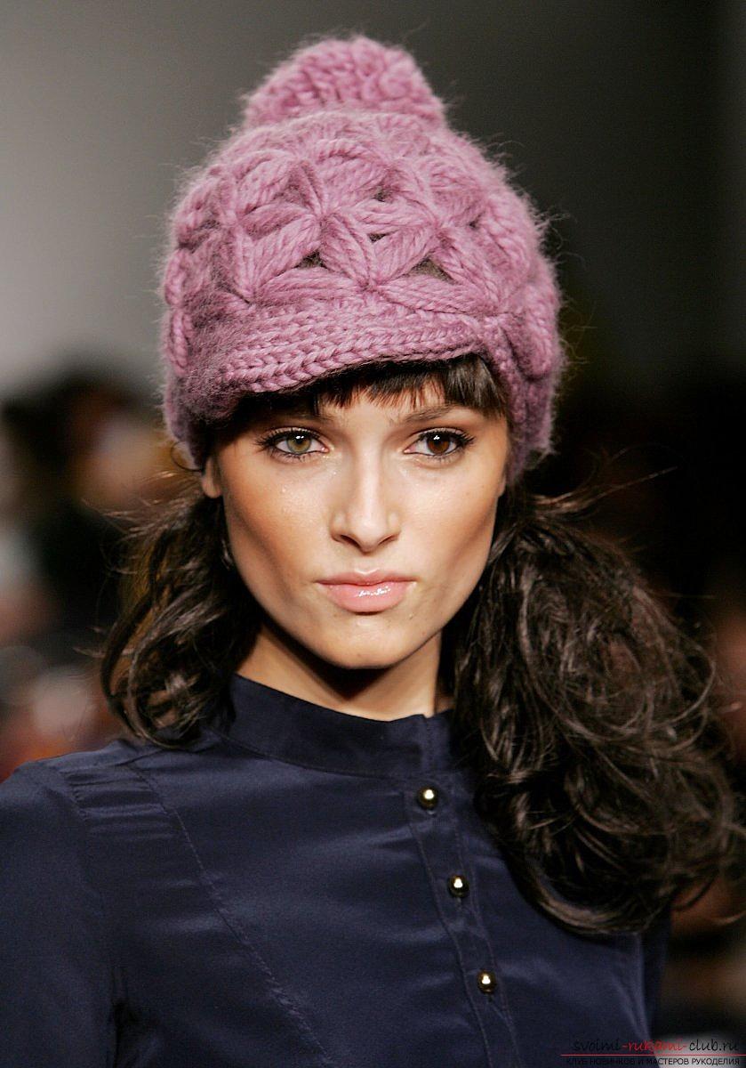 шапки зимние для девочек спицами на 5 лет схема мк