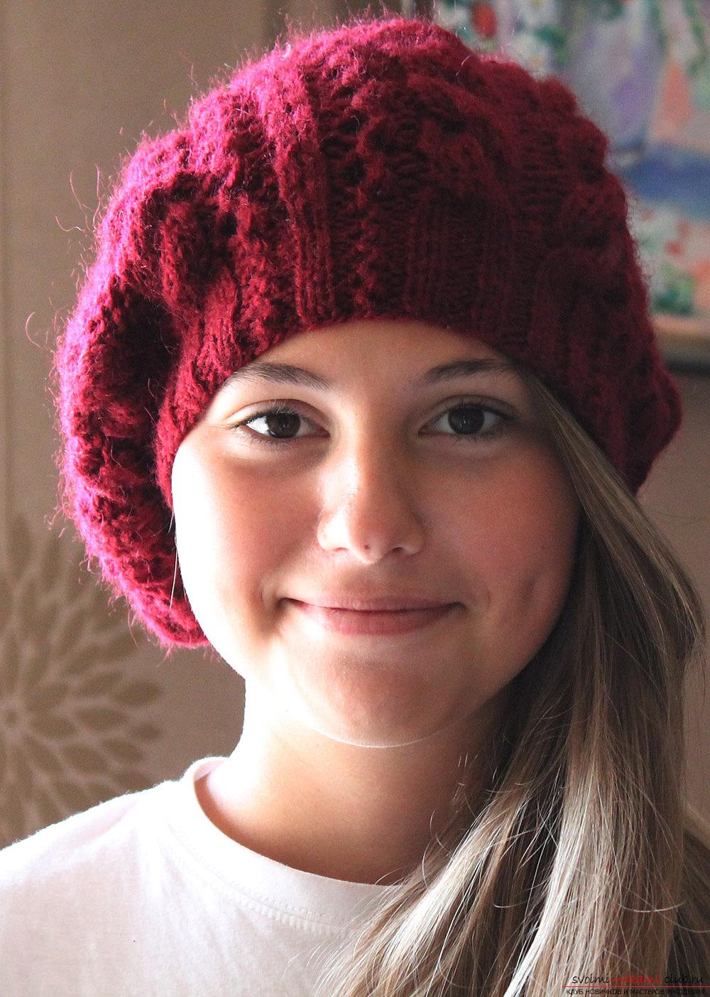 Вязаные шапочки (модели с описанием) Вязание спицами