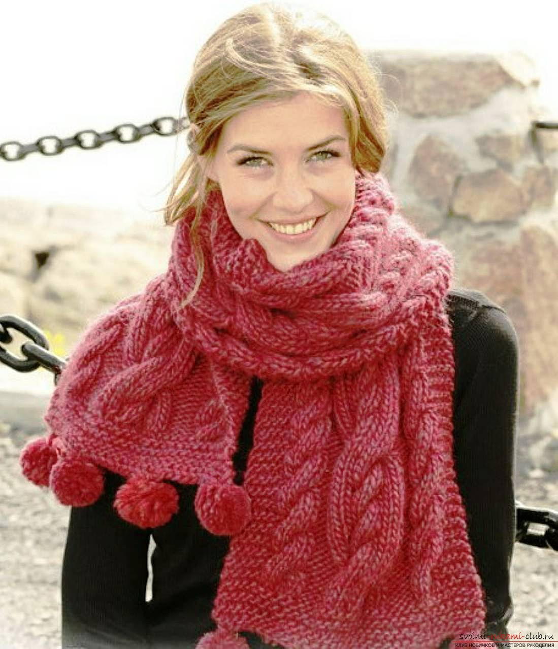 Вязание спицами шарфов