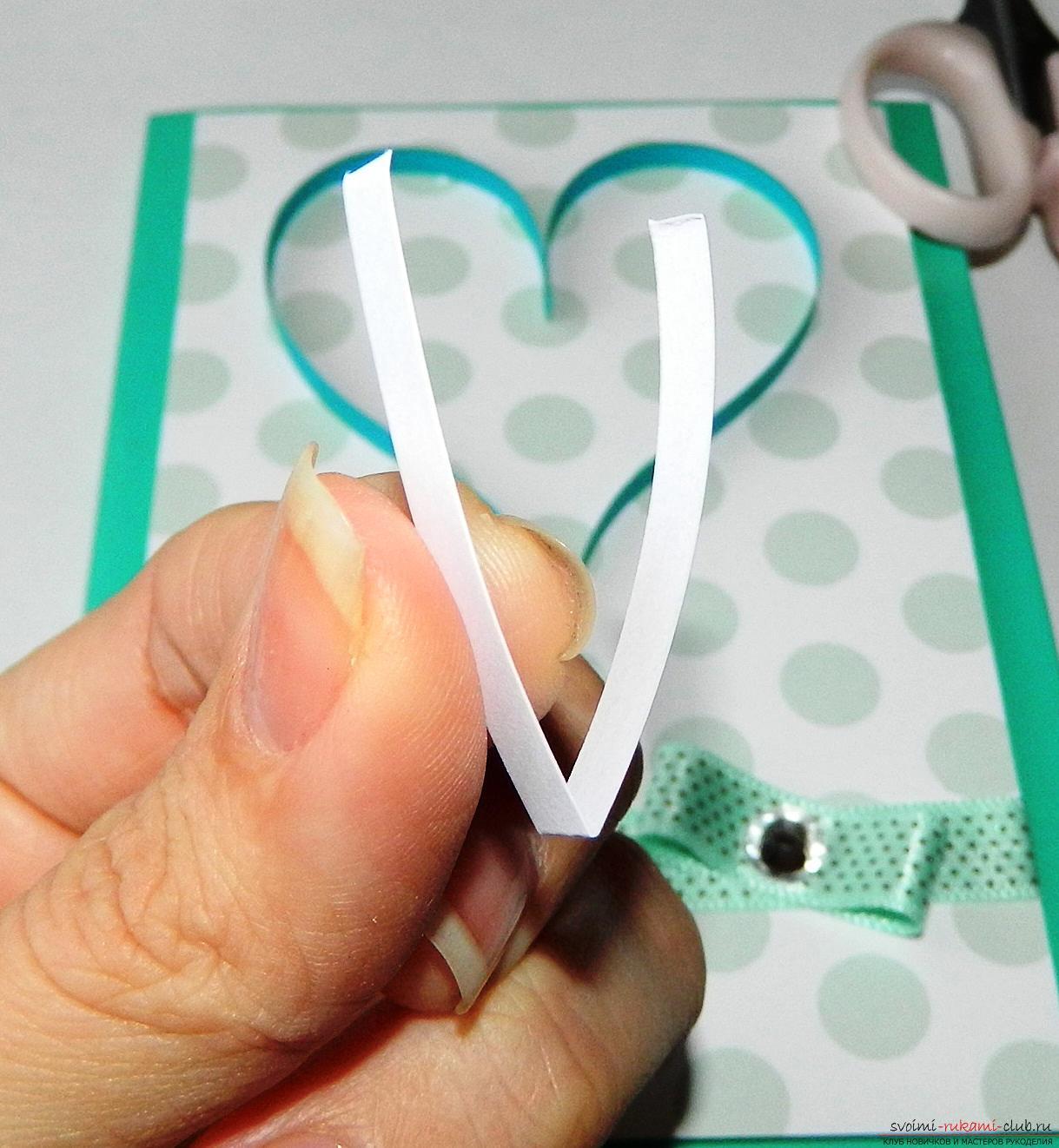 Этот мастер-класс научит как сделать открытку-валентинку своими руками