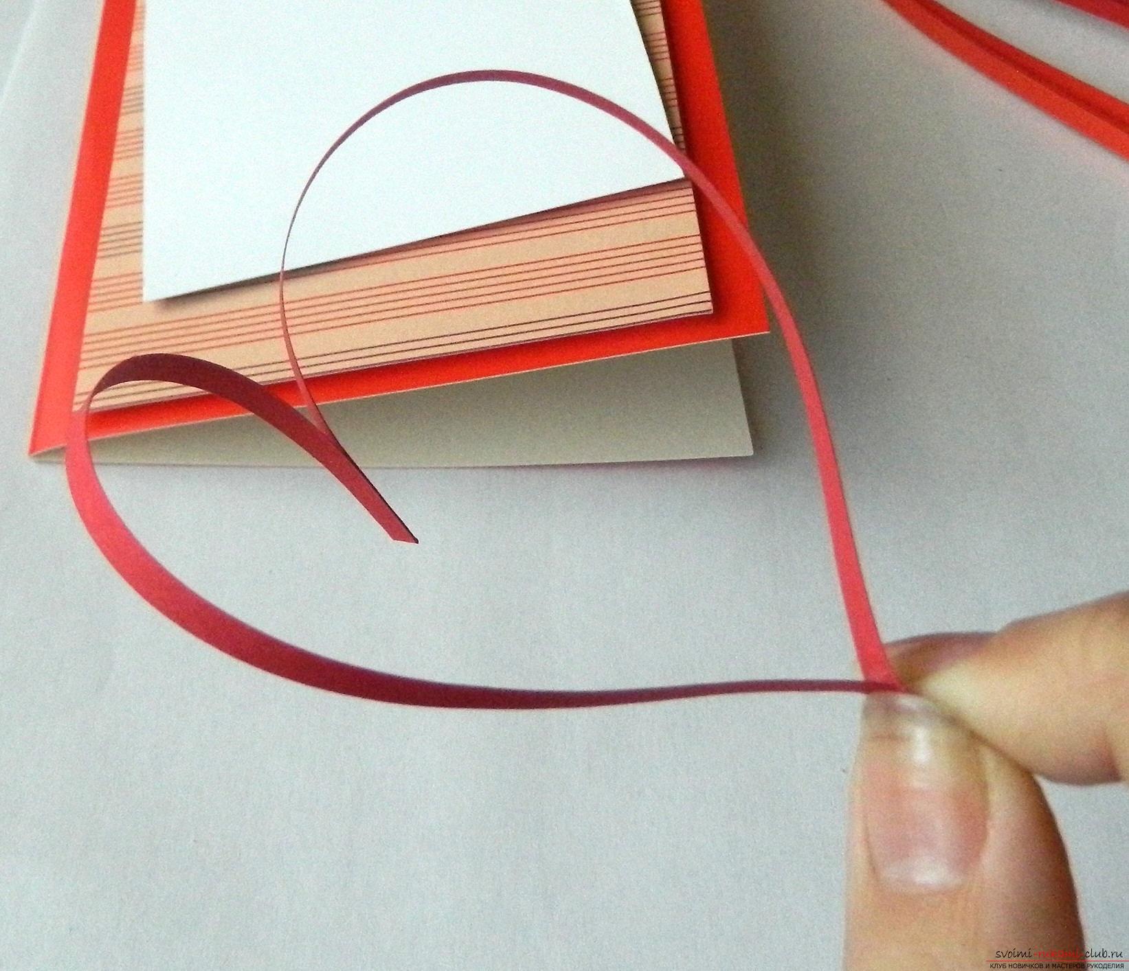Этот мастер-класс научит как сделать валентинку своими руками в технике квиллинг.. Фото №7