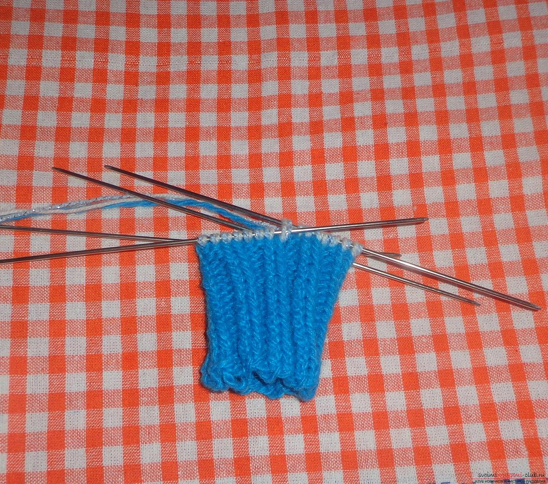 Фото к уроку по вязанию на спицах варежек