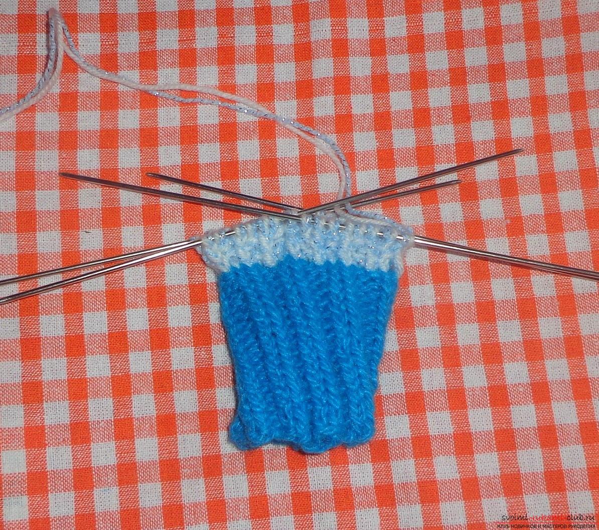 Вязание варежек спицами для начинающих пошагово фото