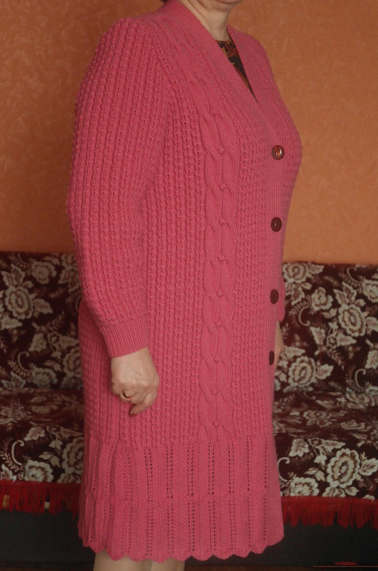 Схемы выкройки для вязания пальто