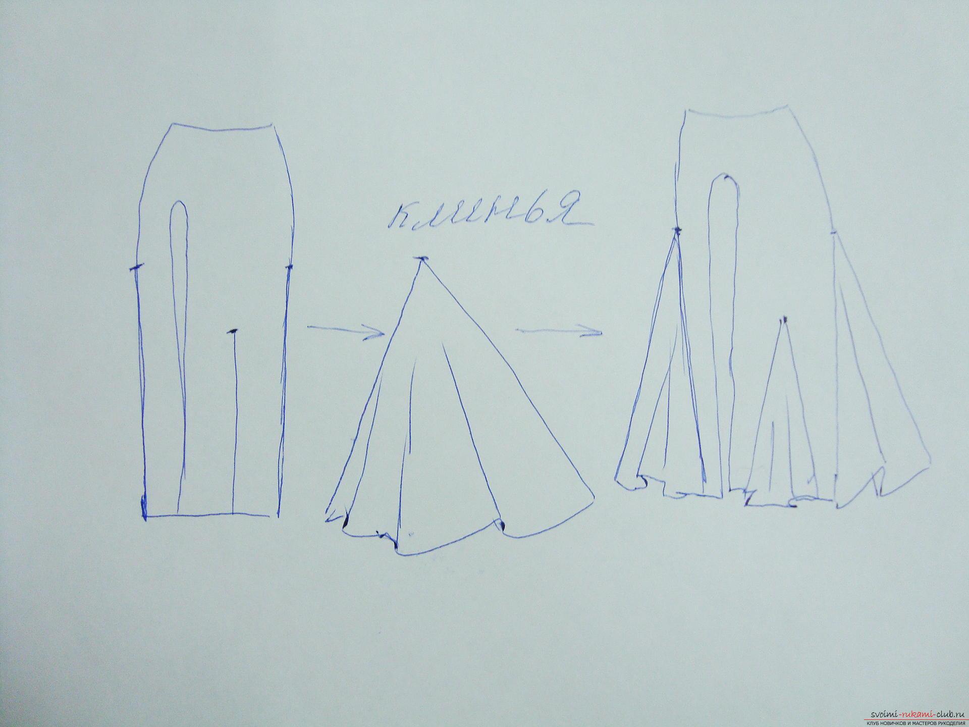 Красивое платье можно пошить в домашних условиях, используя выкройку и схему.. Фото №2