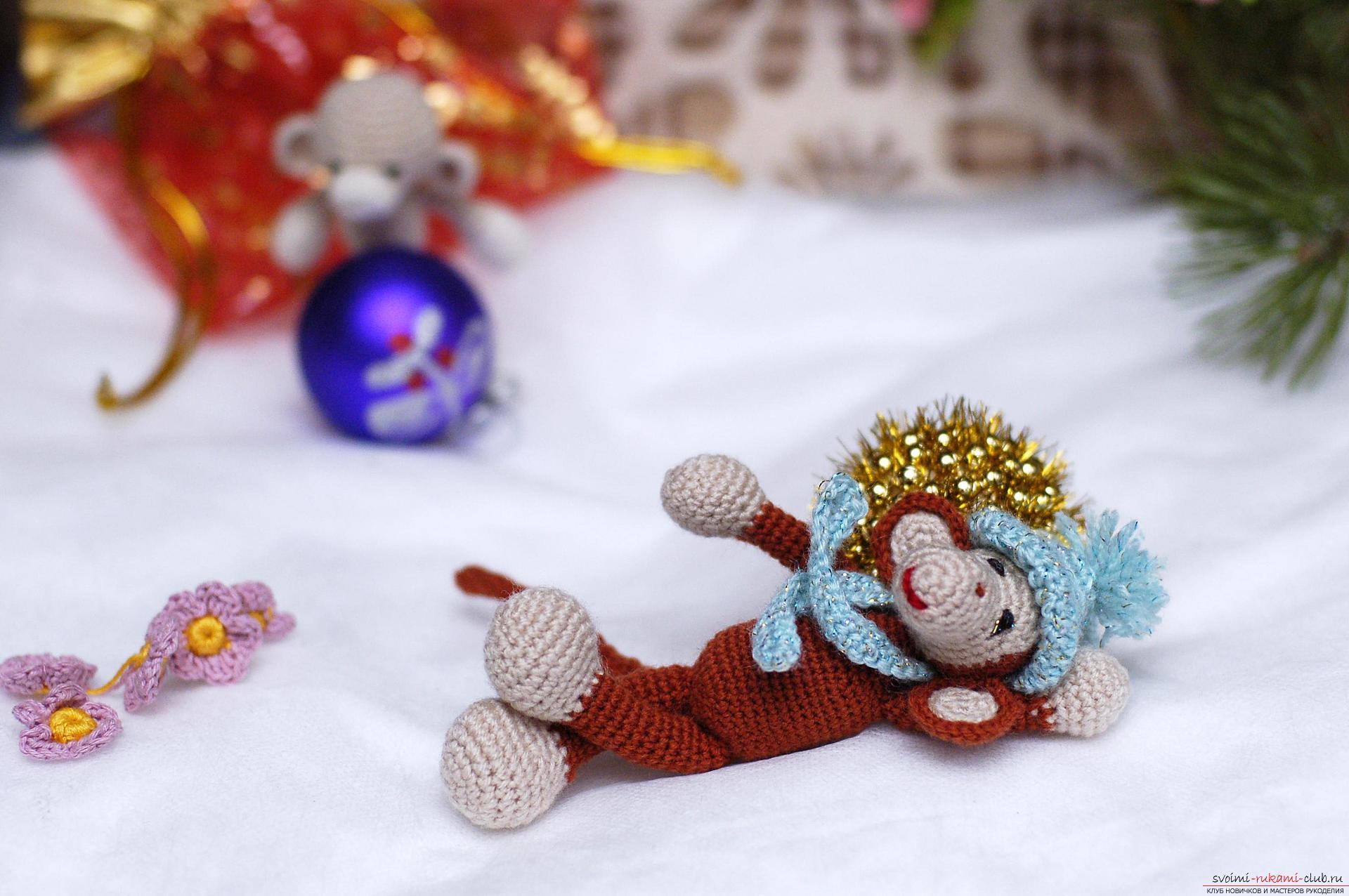 Клуб мастерица вязание обезьянки