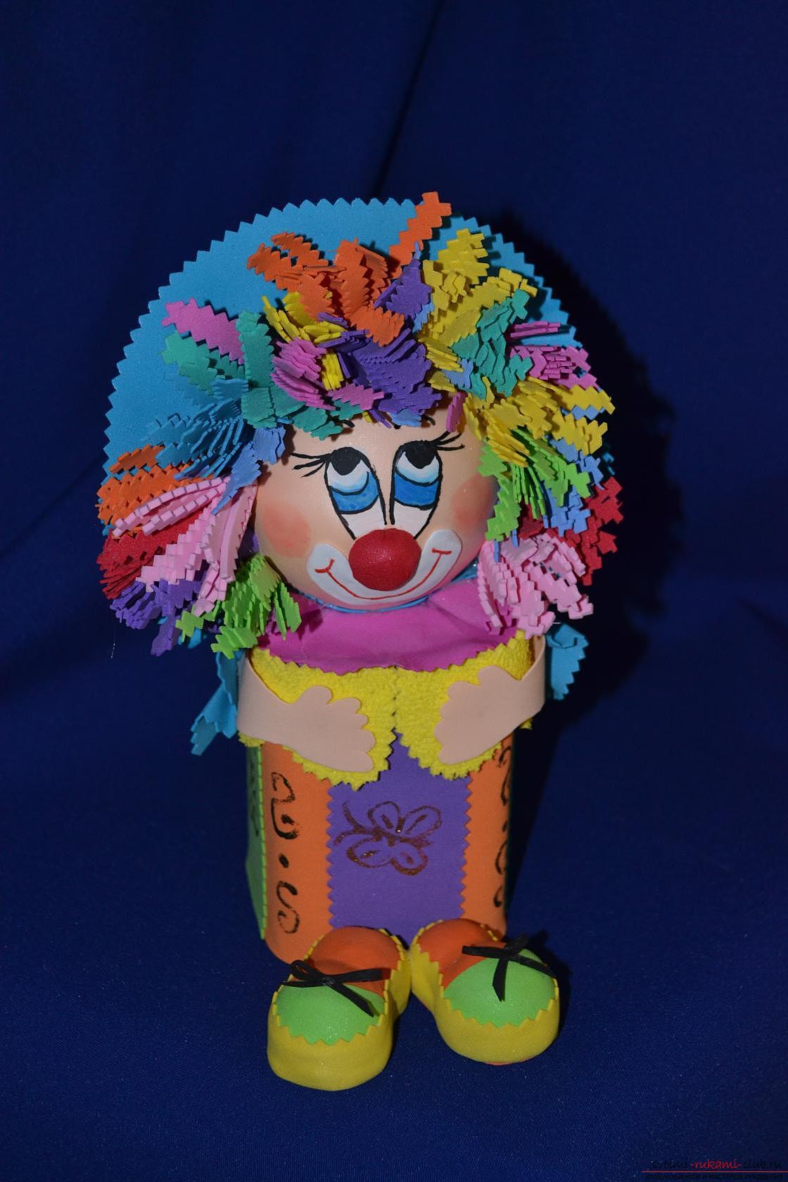 Как сделать клоуна из бумаги своими руками, мастер класс, схема 68