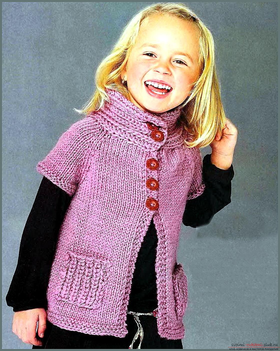 вязаный свитер спицами схема для девочек