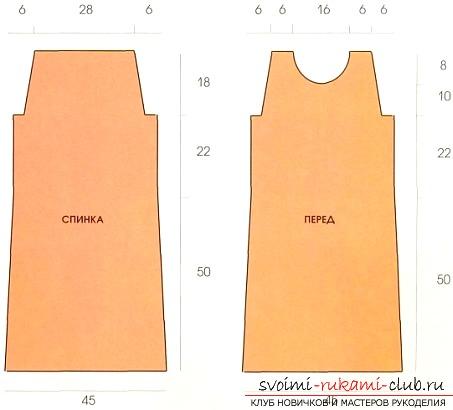 Лёгкие выкройки прямого платья