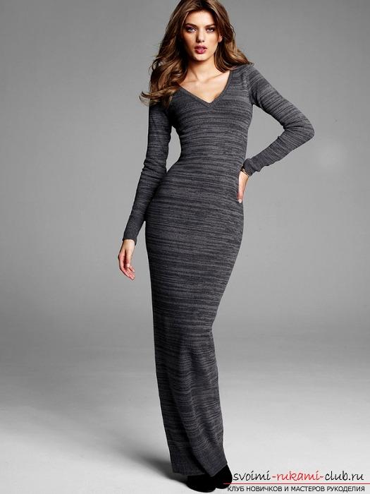 Трикотажное женское платье футляр выкройка