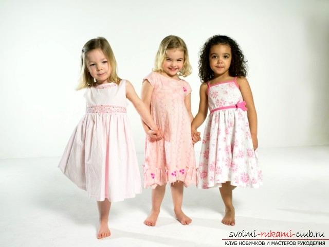Как сделать выкройку для детских платьев. Фото №1