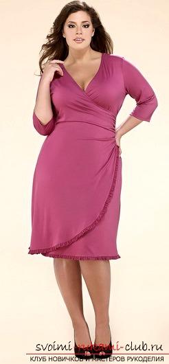 Женское платье больших размеров шьем сами