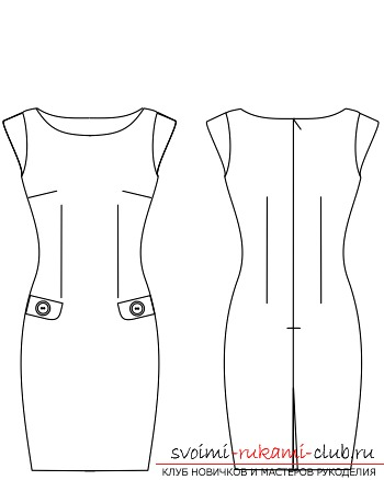 f5a4fed24be611b Выкройка платья футляр и его пошив достаточно несложен для самостоятельного  выполнения. Такой наряд будет выгодно выделяться как оригинальным  исполнением и ...