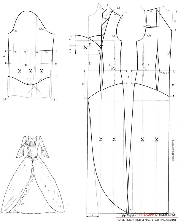Как сделать выкройку нарядного платья?. Фото №3