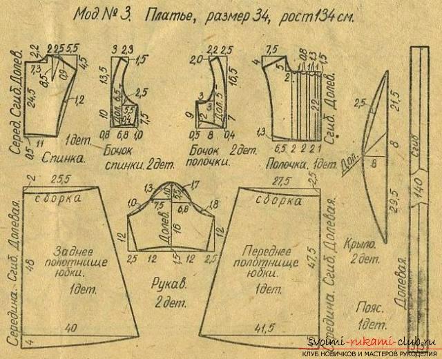 Как сделать выкройку нарядного платья?. Фото №5